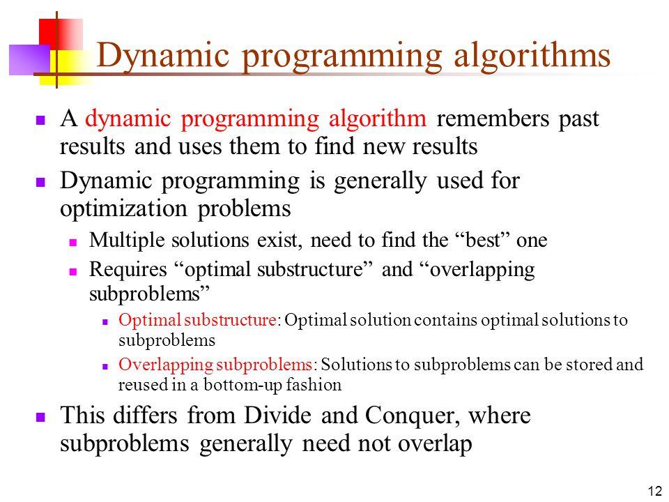 Dynamic programming algorithms