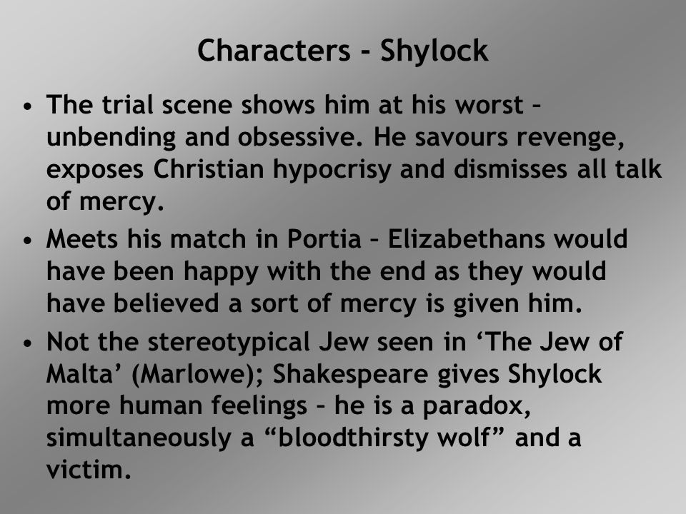 Characters - Shylock