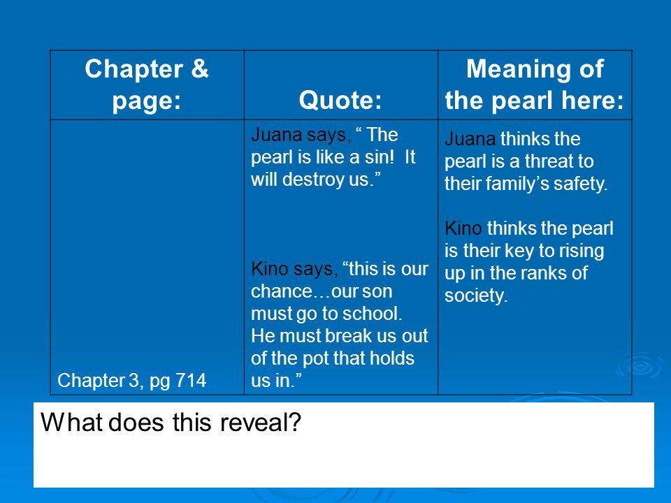 the pearl essay theme