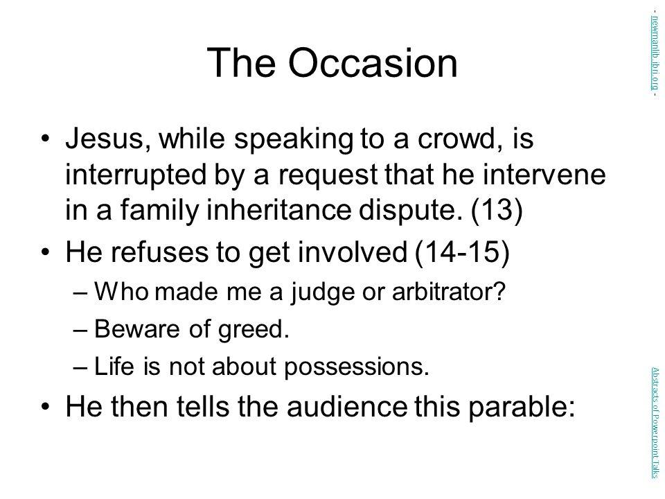 The Occasion - newmanlib.ibri.org -