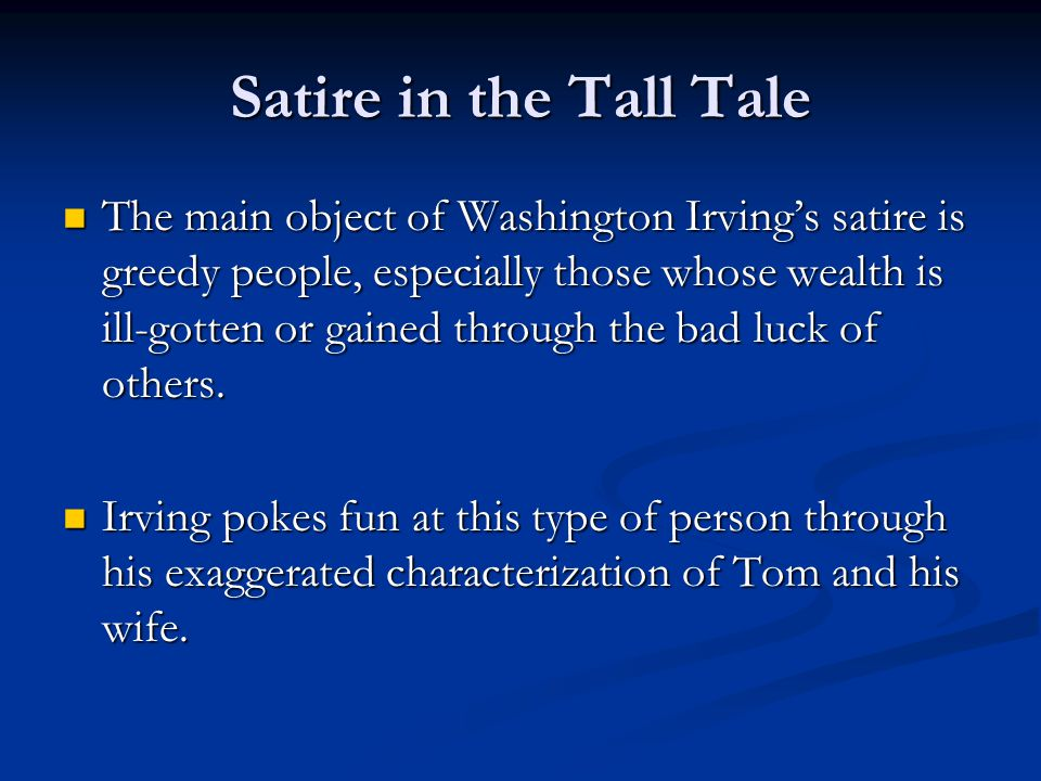 Satire in the Tall Tale