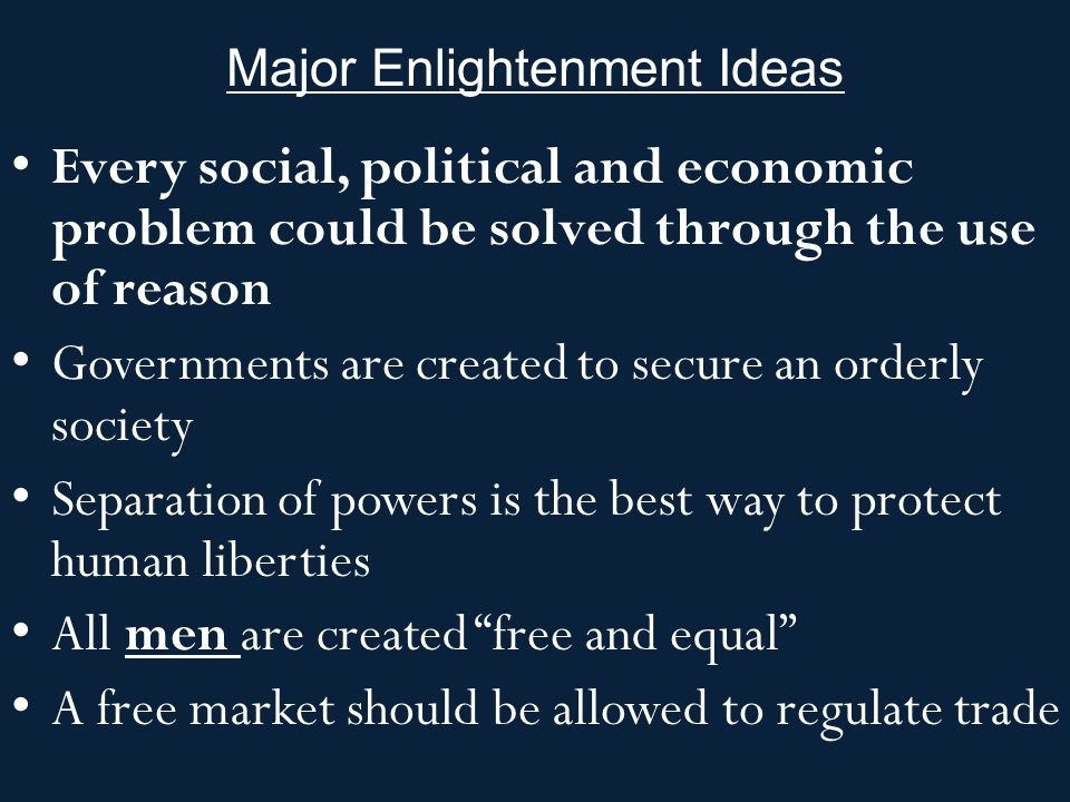 Major Enlightenment Ideas