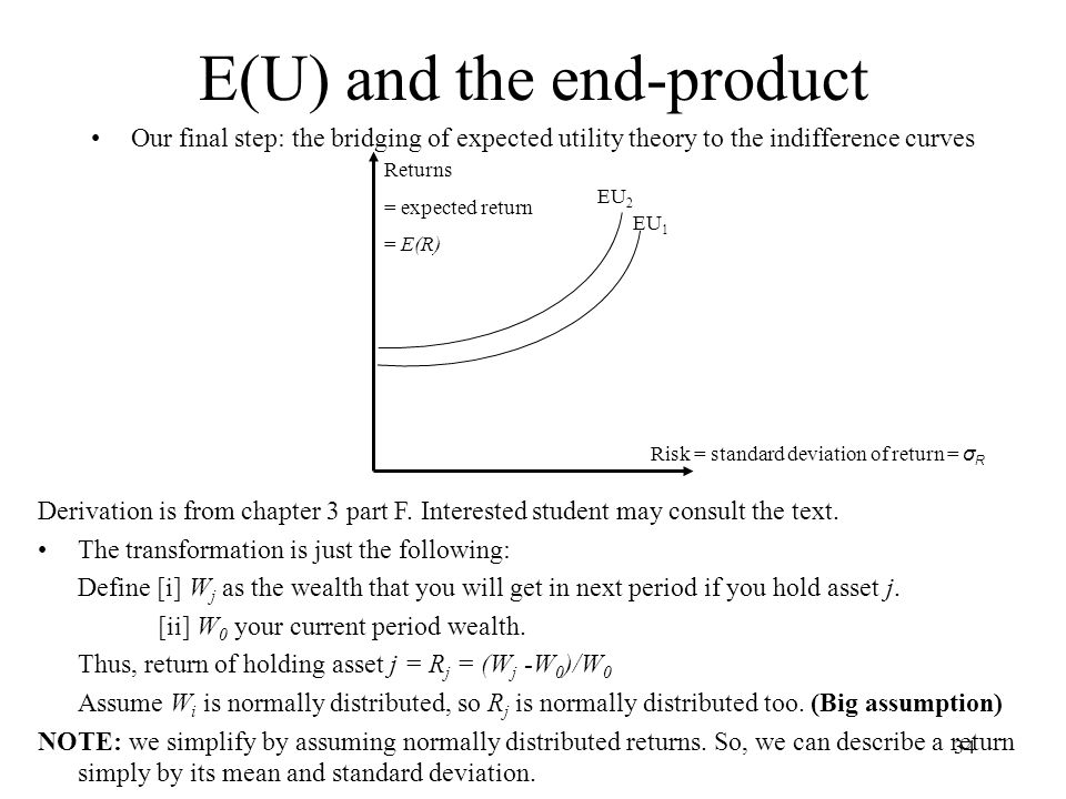E(U) and the end-product