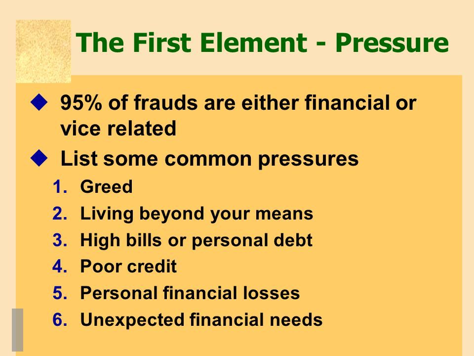 The First Element - Pressure