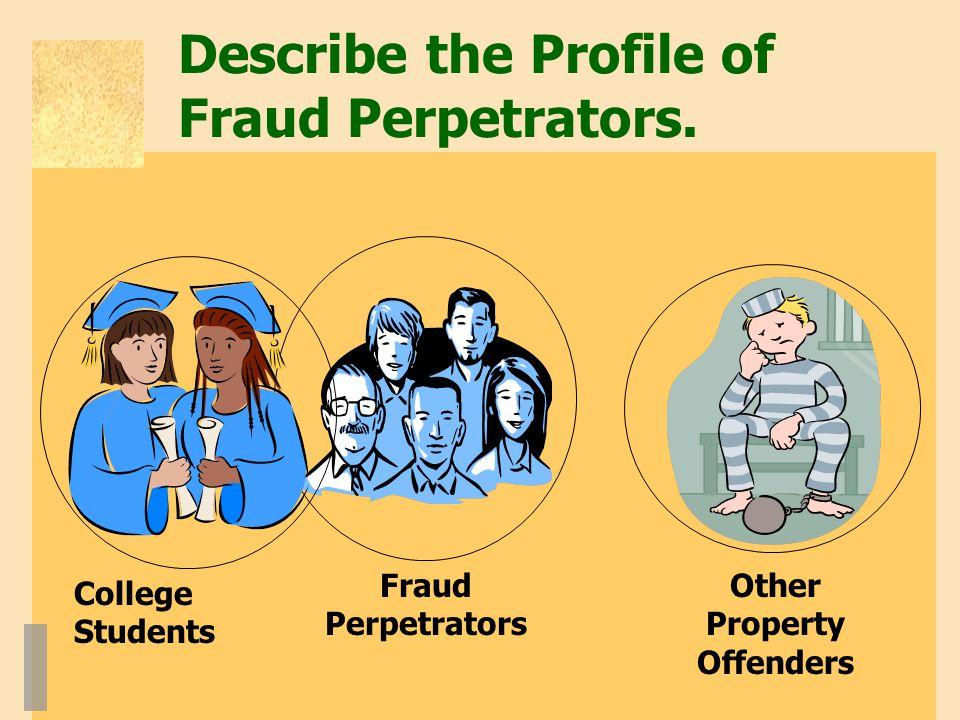 Describe the Profile of Fraud Perpetrators.