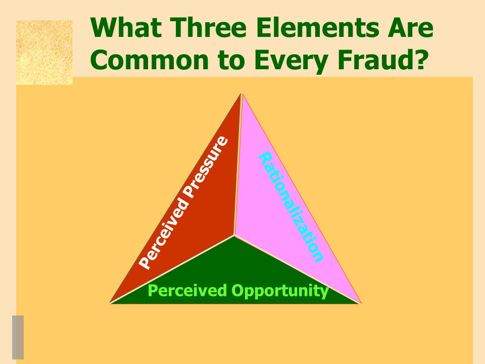 What Three Elements Are Common to Every Fraud