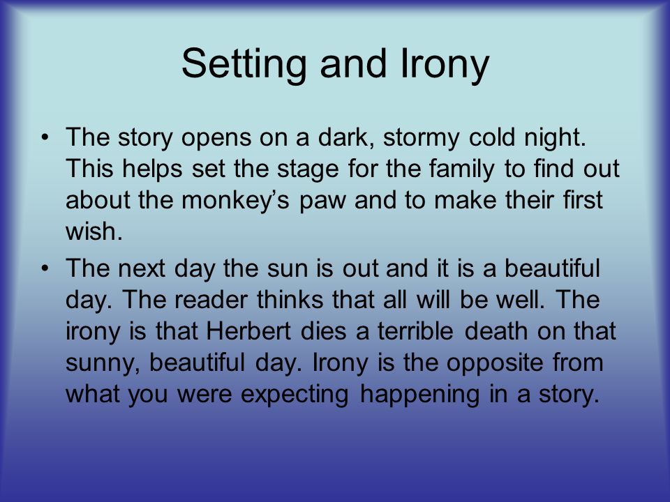 Setting and Irony