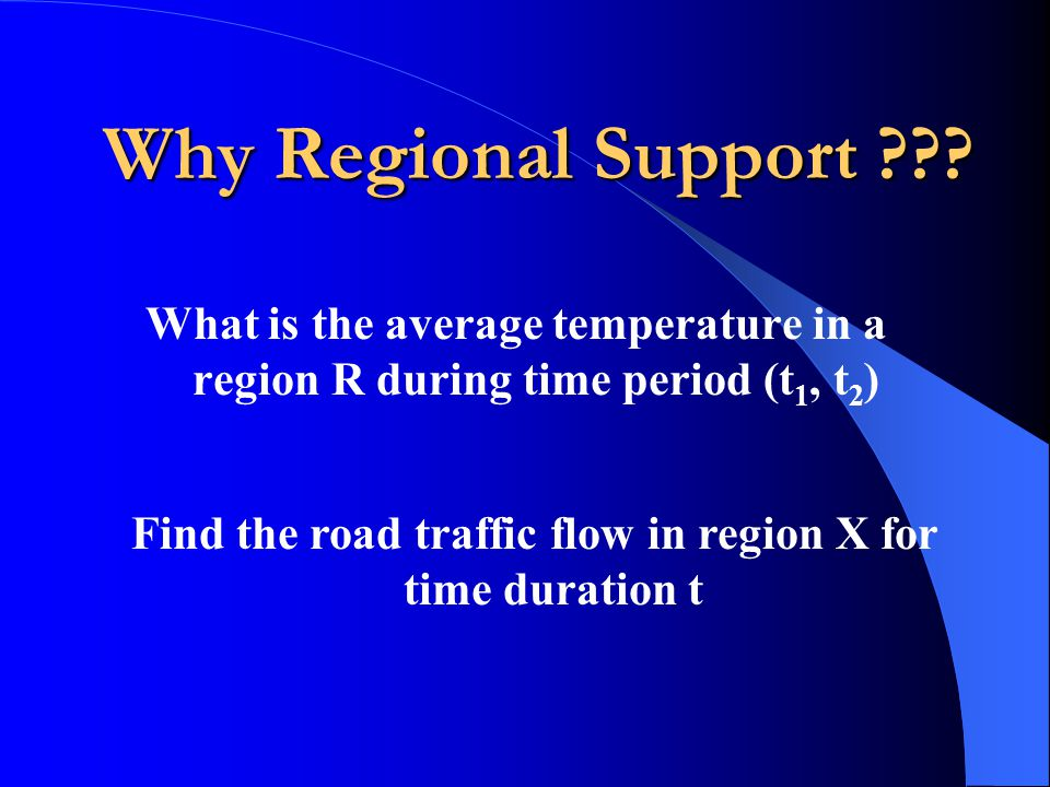 Find the road traffic flow in region X for time duration t