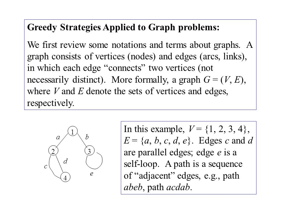 Greedy Strategies Applied to Graph problems: