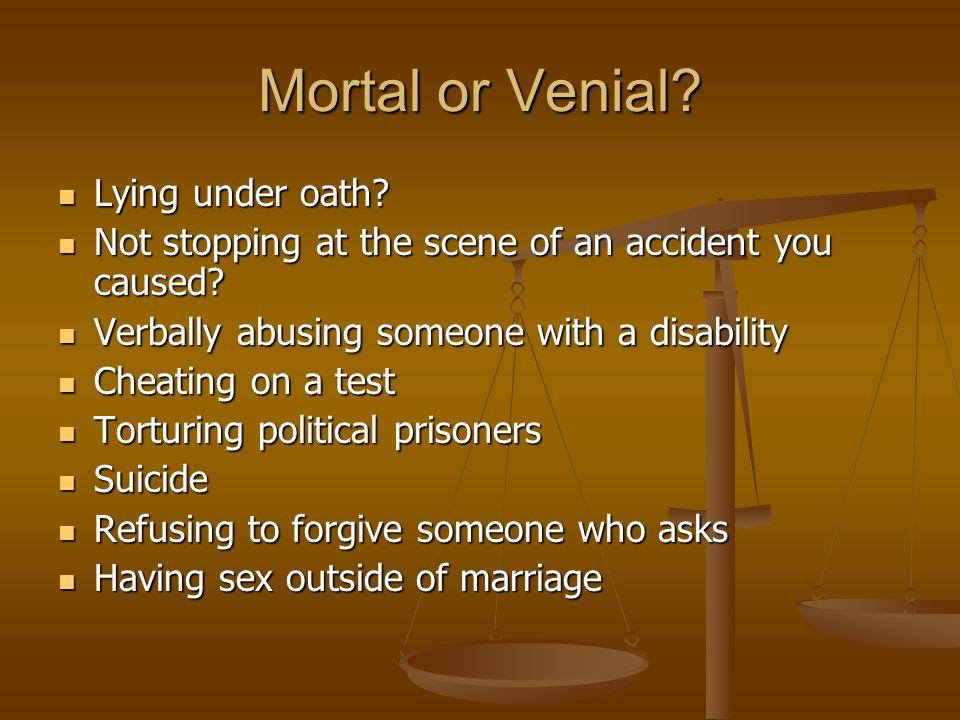 Mortal or Venial Lying under oath