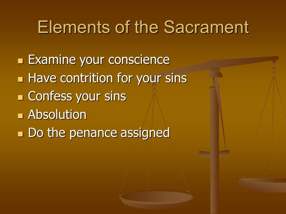 Elements of the Sacrament