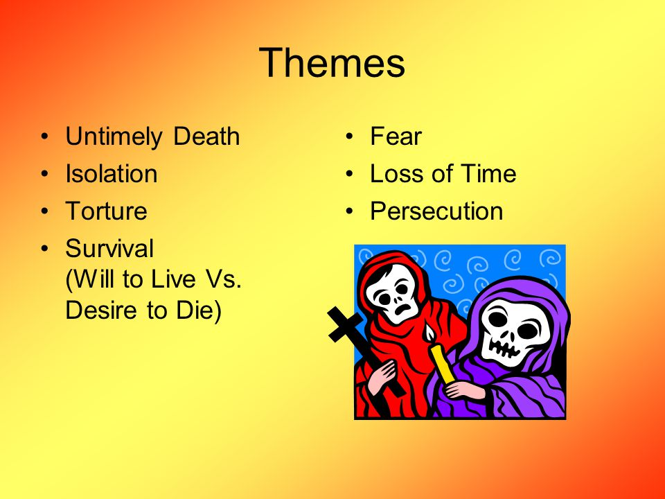 Themes Untimely Death Isolation Torture