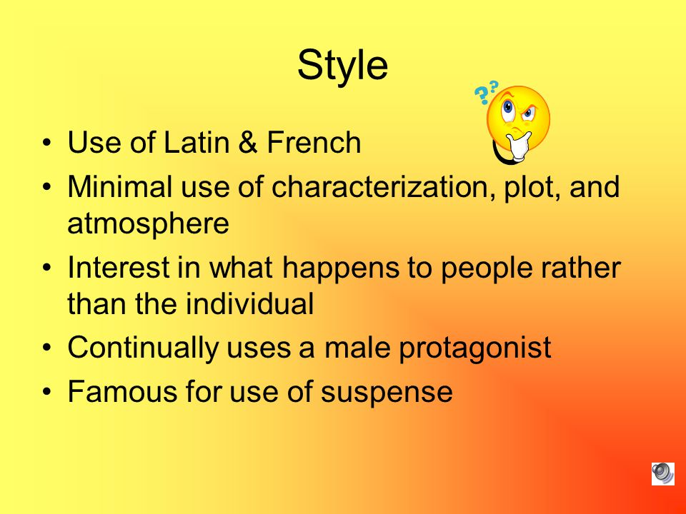 Style Use of Latin & French