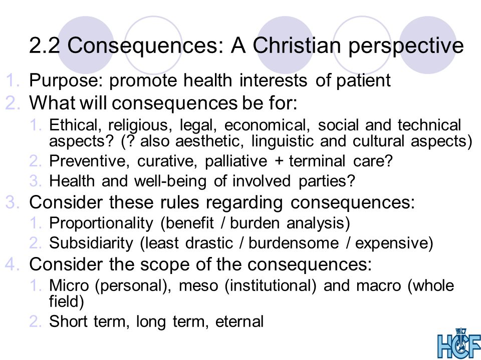 2.2 Consequences: A Christian perspective