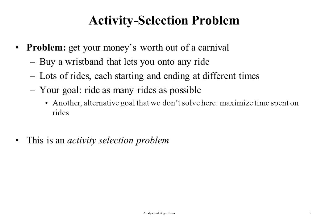 Activity-Selection Problem