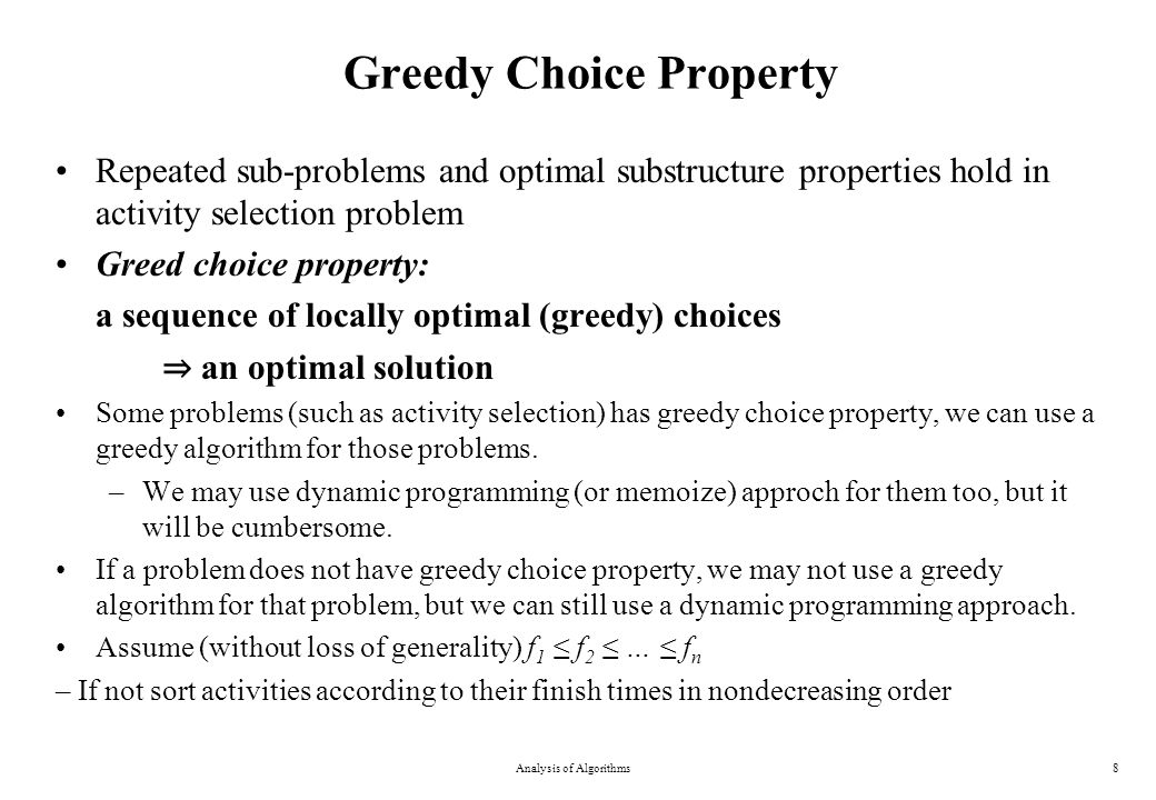 Greedy Choice Property