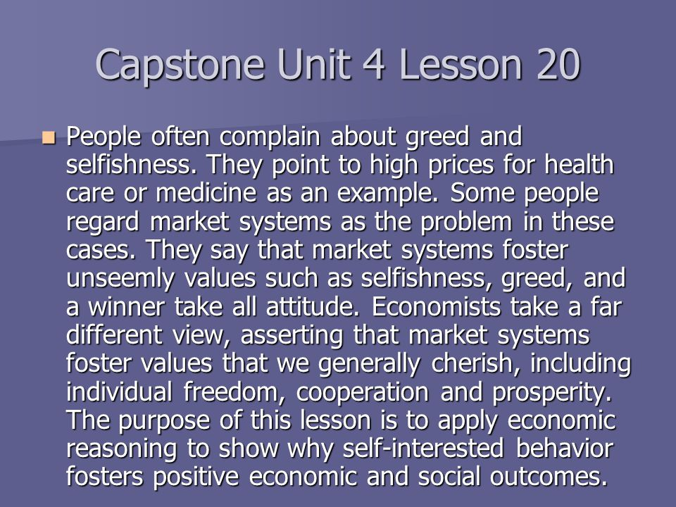 Capstone Unit 4 Lesson 20