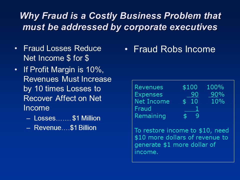 Why Fraud is a Costly Business Problem that must be addressed by corporate executives