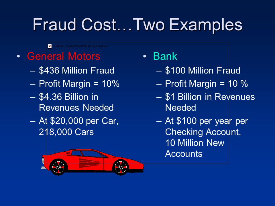 Fraud Cost…Two Examples
