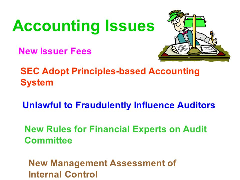 Accounting Issues New Issuer Fees
