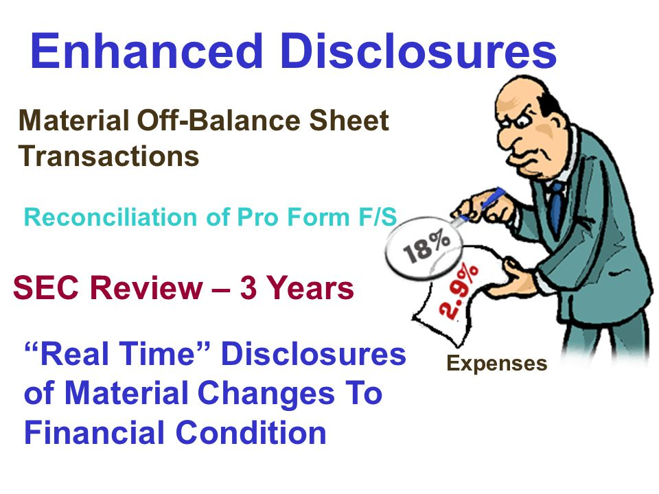 Enhanced Disclosures SEC Review – 3 Years