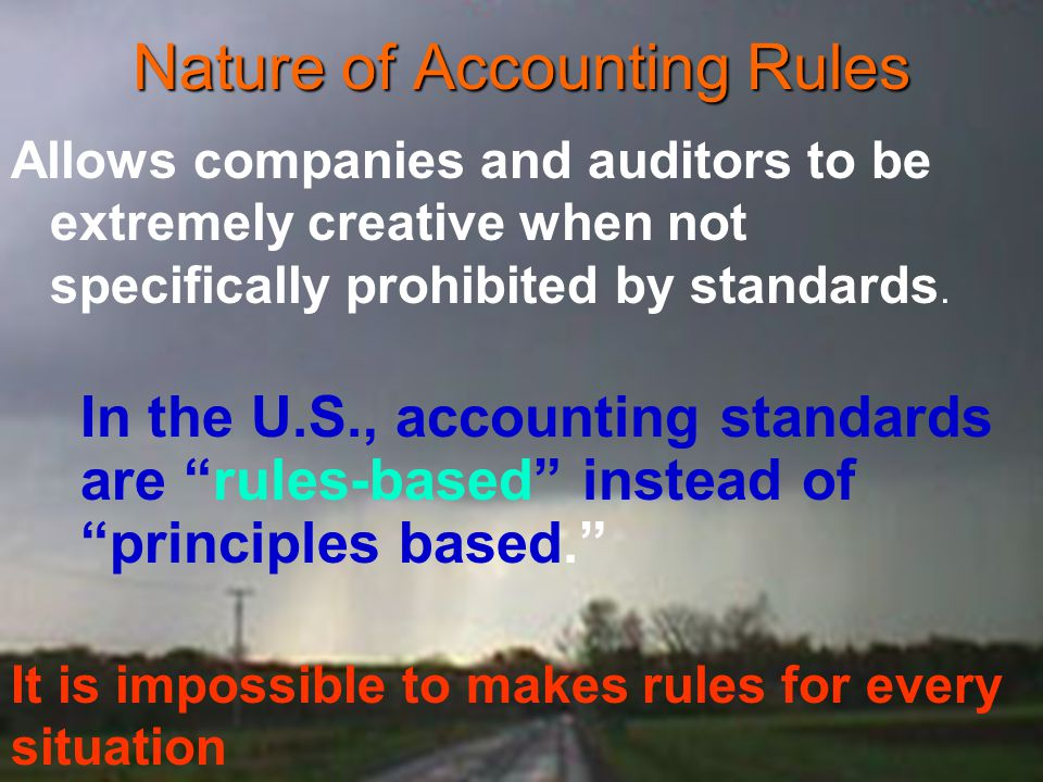 rules based and principles based accounting standards essay An essay or paper on rule-based vs principle-based accounting standards at issue herein is the question of whether the accounting profession should have rules-based or principle-based standards that function to provide both normative guidance and regulatory oversight for members of the field.