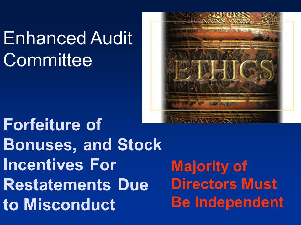 Enhanced Audit Committee