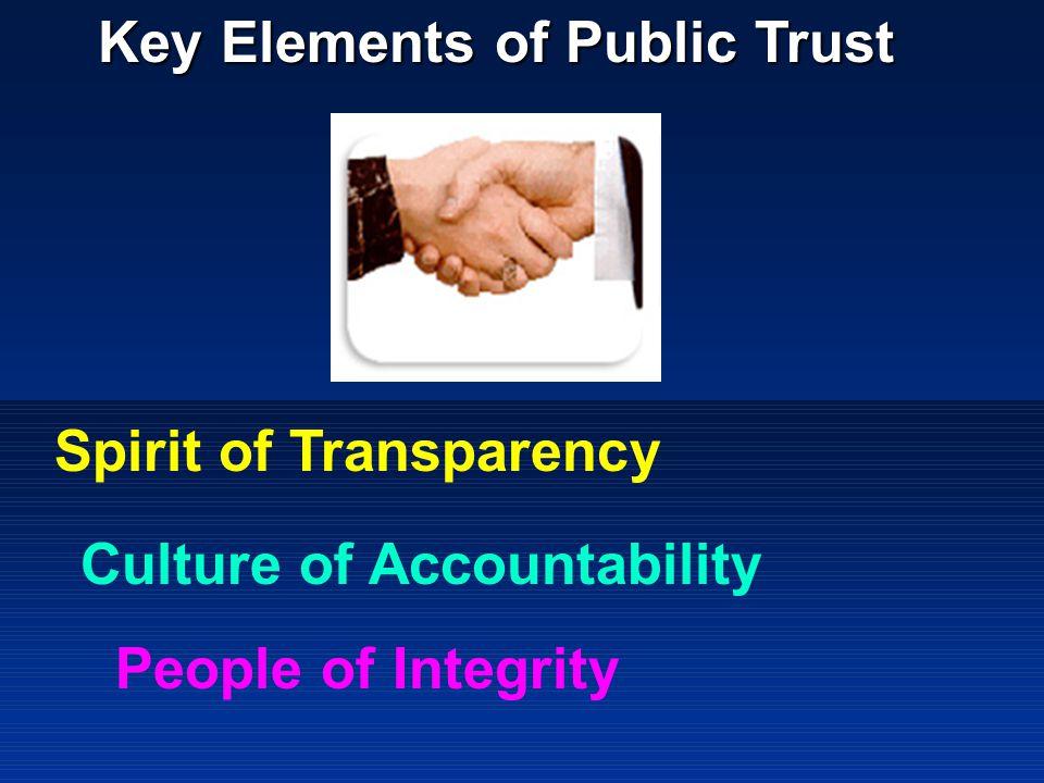 Key Elements of Public Trust