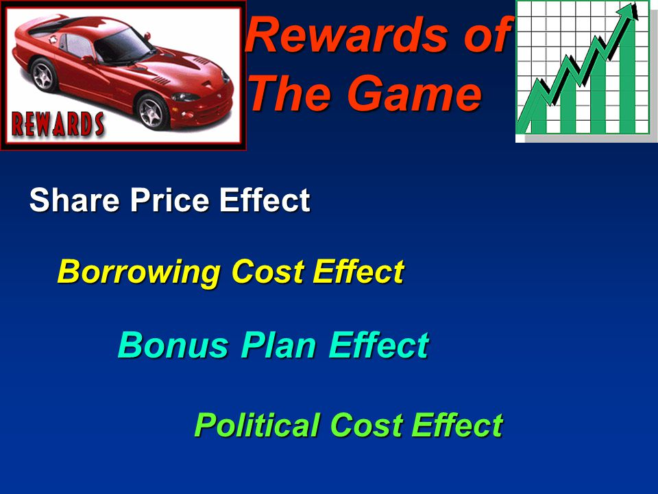 Rewards of The Game Bonus Plan Effect Share Price Effect