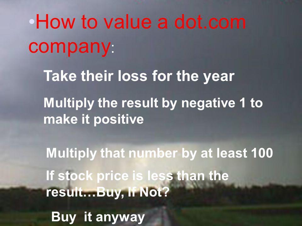 How to value a dot.com company: