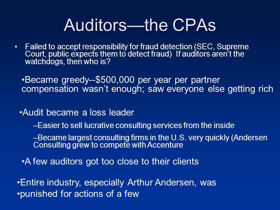Auditors—the CPAs