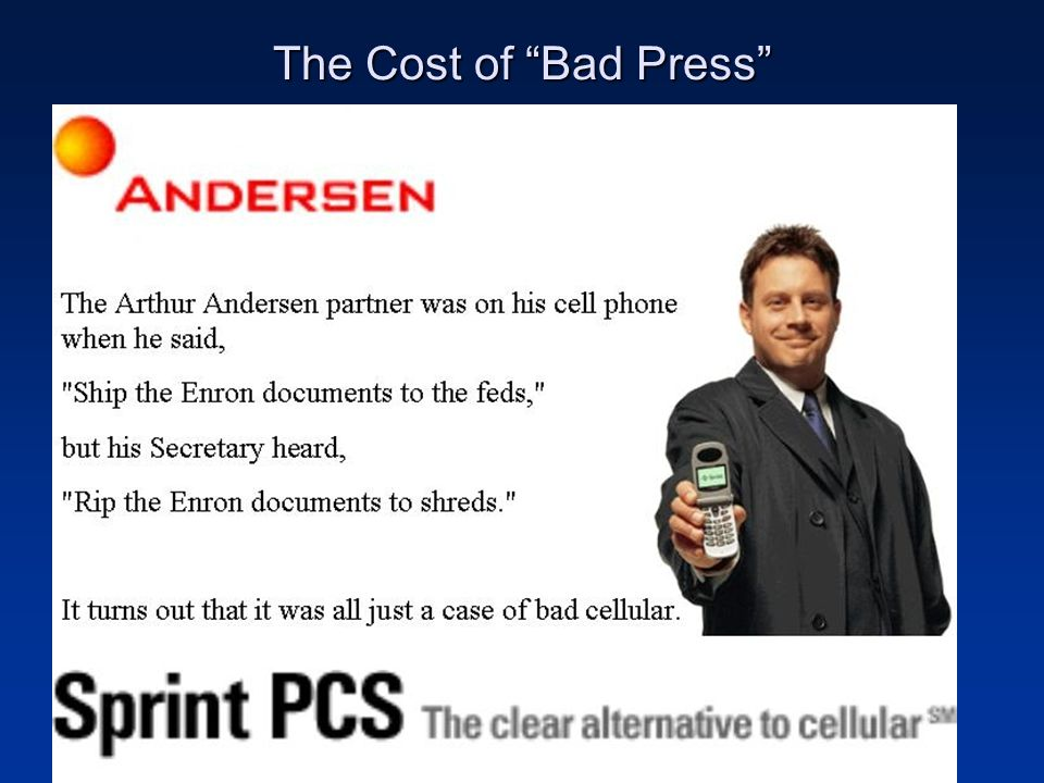 The Cost of Bad Press