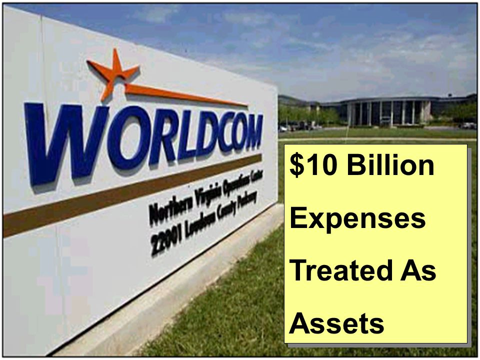 $10 Billion Expenses Treated As Assets