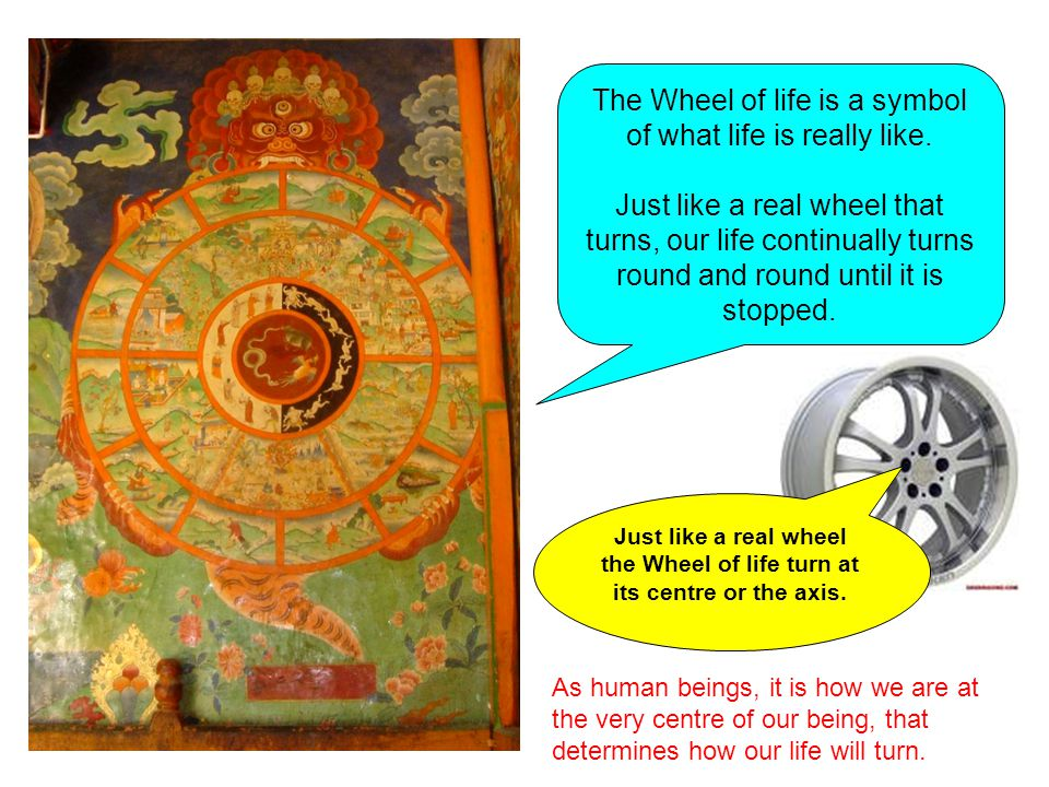 The Wheel of life is a symbol of what life is really like.