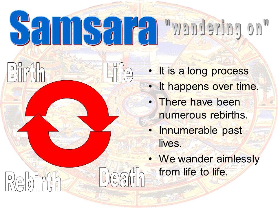 Samsara wandering on Birth Life Death Rebirth It is a long process