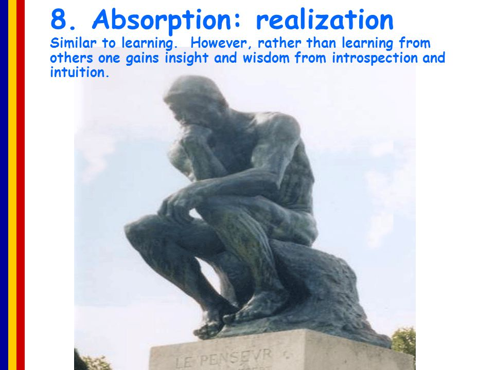 8. Absorption: realization Similar to learning