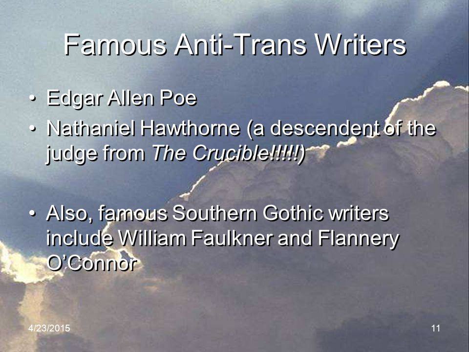 Famous Anti-Trans Writers