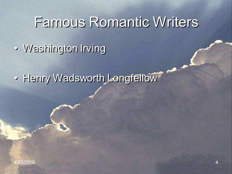 Famous Romantic Writers