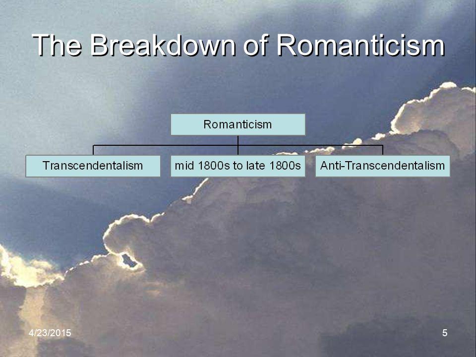 The Breakdown of Romanticism