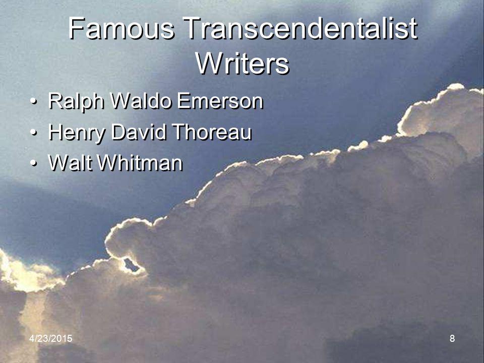 Famous Transcendentalist Writers