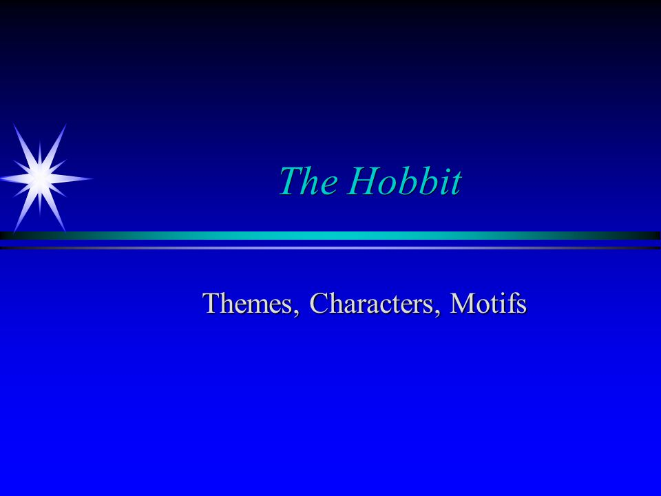 Themes, Characters, Motifs