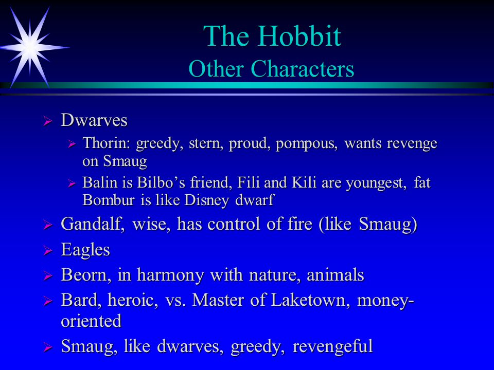 The Hobbit Other Characters