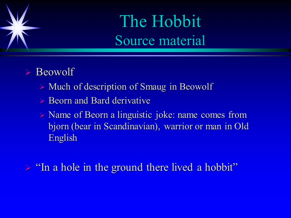 The Hobbit Source material