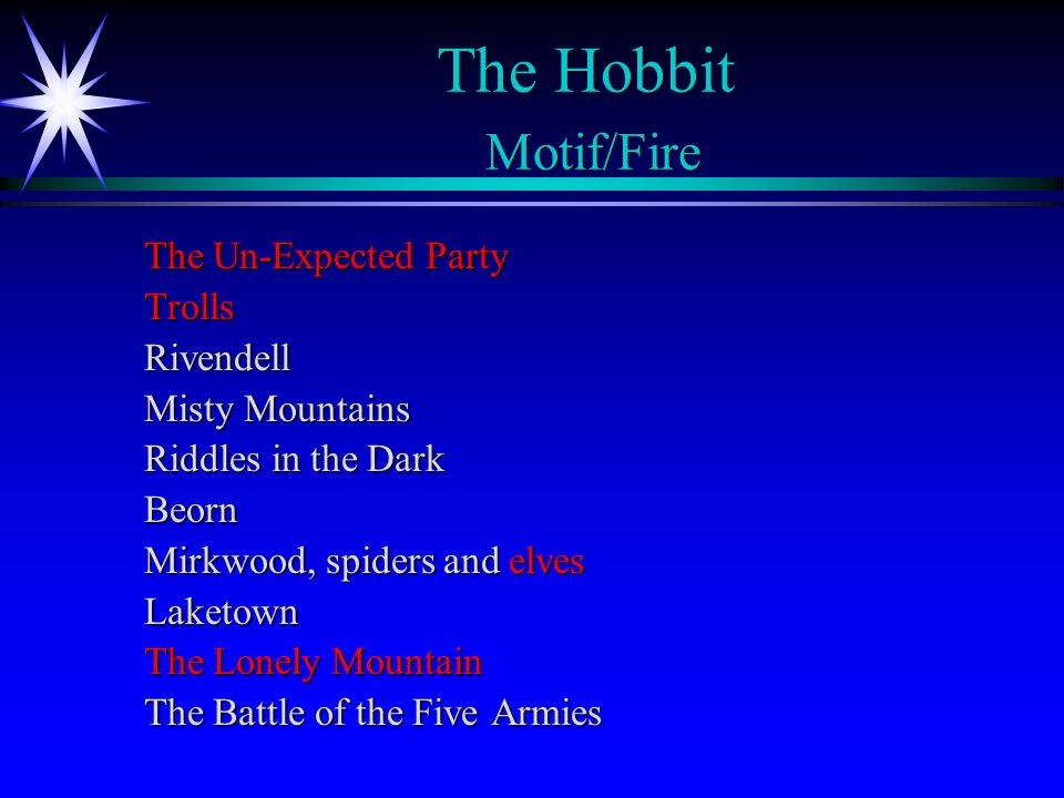 The Hobbit Motif/Fire The Un-Expected Party Trolls Rivendell