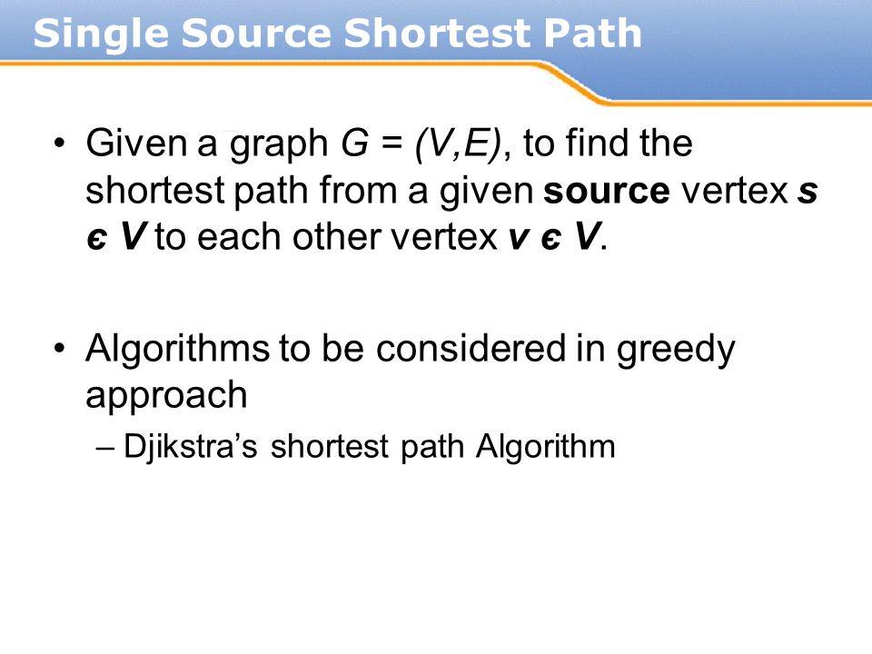 Single Source Shortest Path