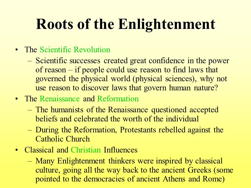 Roots of the Enlightenment
