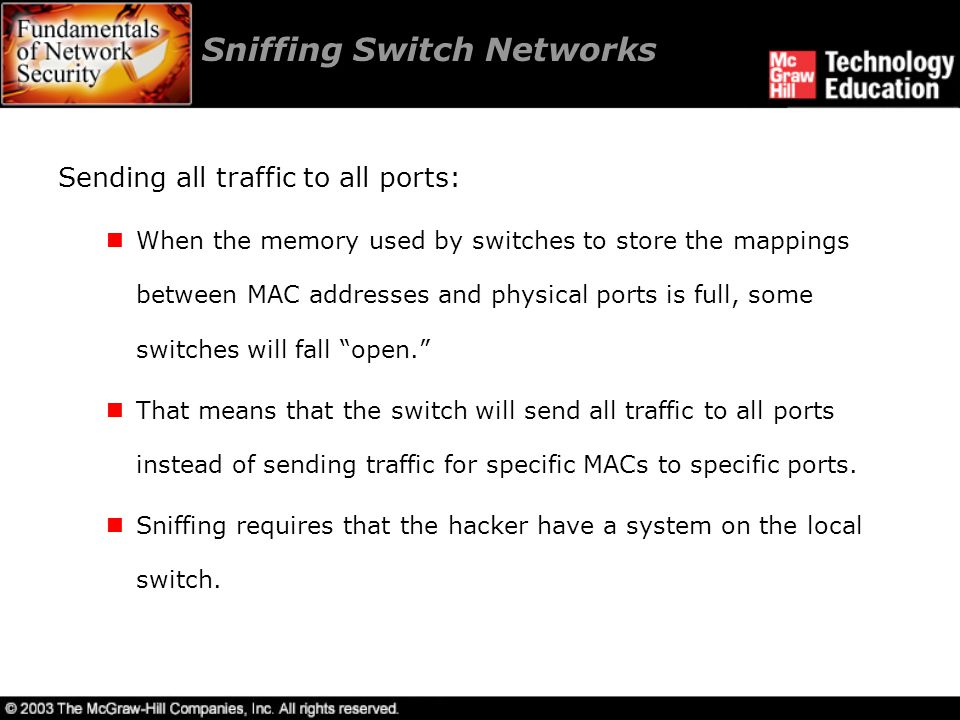 Sniffing Switch Networks