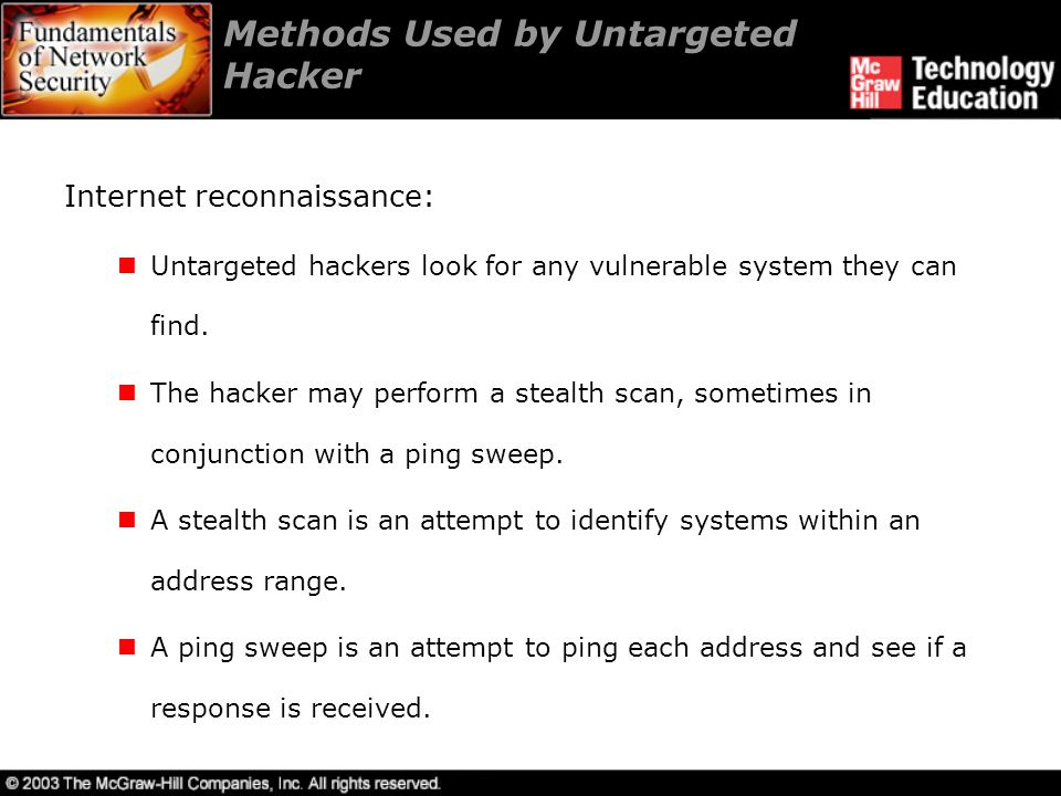 Methods Used by Untargeted Hacker