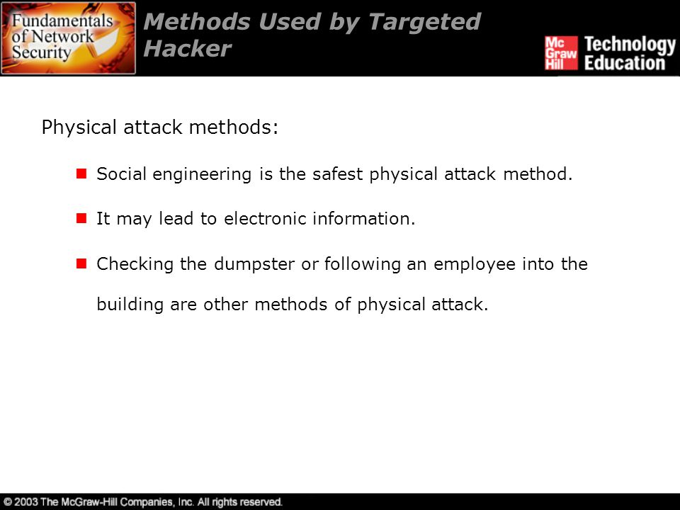 Methods Used by Targeted Hacker