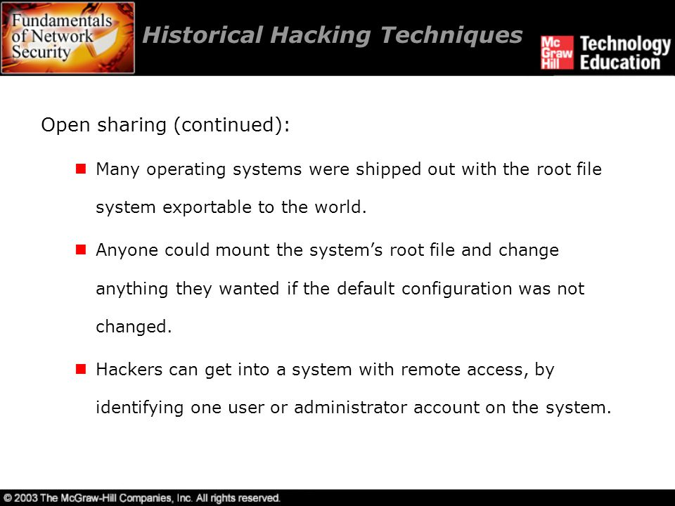 Historical Hacking Techniques
